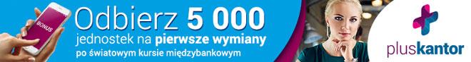 PlusKantor 5000 jednostek bez spreadu